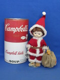 "Limited Edition Porcelain Campbell's Soup Santa Doll in Box – 71/500 – 10"" tall"