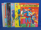 Lot of Children's Coloring/Activity Books: Cinderella, Barbie, 1977 Electro-Man & more