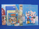 Mixed Lot of Children's Books: Pop-Out & Paint Farm Animals, 1959 Ideals Christmas Carol & more