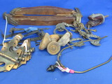 Mixed Lot of Hardware: Pulls, Handles, Hinges – Some are wood