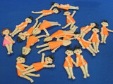"19 Small Flat Poseable Dolls from the Imperial Toy Co. 1973 – 3"" tall – Made in Hong Kong"