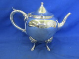 Silver PlateFooted Tea Pot (Rogers Smith & Co.)