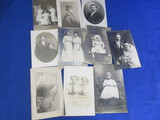 10 Antique B & W Portraits/Postcards (Adults)