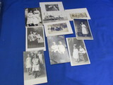 10 Antique B & W Portraits/Postcards ( Children/Adults)