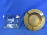 "Ashtrays:  Vintage Smoked Glass Nudie design ""The Apartment"" & Copper? Crenlo 30 Yrs"
