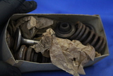"Vintage Box ""Allstate Valves"" Contains springs & stem items in tissue"