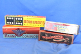 Vintage Dominoes & Boxes (4) different – All Used Condition