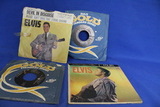 Lot of 3 Elvis Presley 45 rpm Vinyl Records – Kissin Cousins, It Hurts Me, Spin Out, Girls Girls Gir
