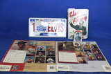 Elvis Presley Lot – 2003 & 2005 16 Month Calendars, Elvis in The Army(book), Vanity Plate