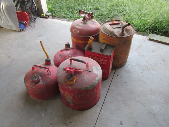 Metal Gas Cans (6)