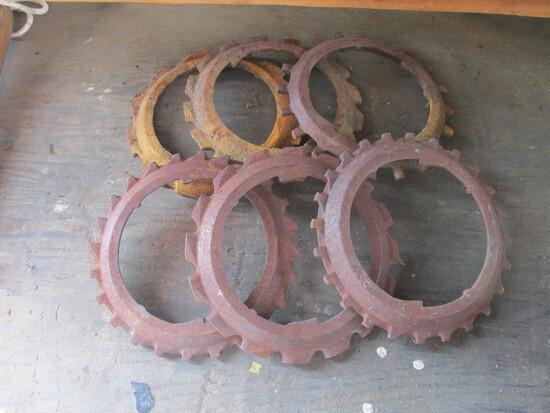 Metal Planter Seeder Discs (6)