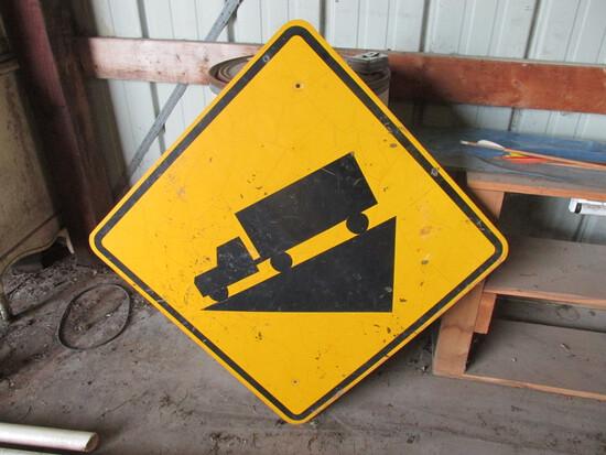 Highway Department Decline Metal Sign