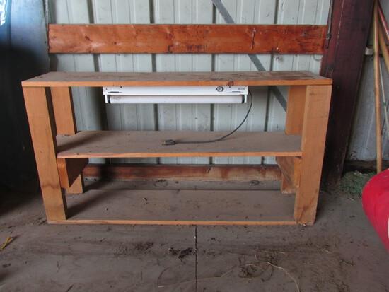 Wood Shelf With Light