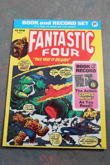 Vintage Fantastic Four Comic Book & Record Set The Way It Began