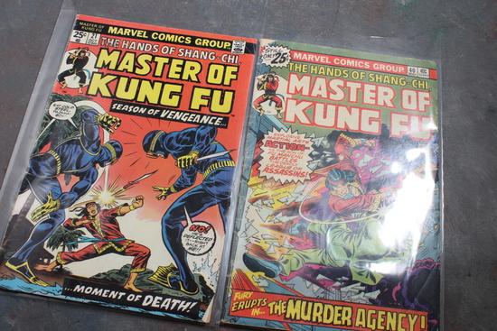 2 Marvel 25 Cent Comic Books Master of Kung Fu Both