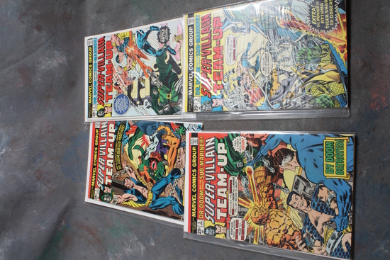 4 Marvel Super Villian Comic Books 25 Cent Dr. Doom & Sub-Mariner