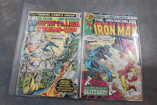 25 Cent Marvel Iron Man & Dr. Doom Super Villian Comic Books