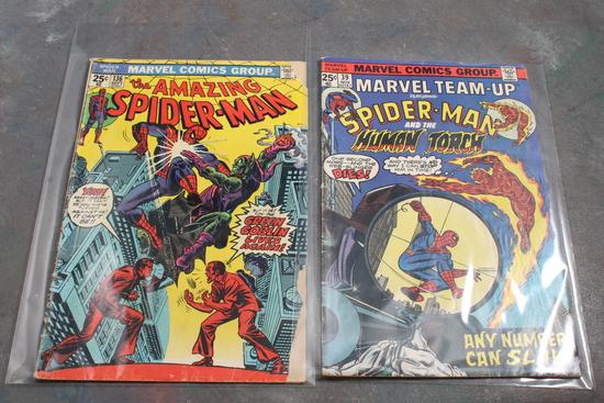 2 Marvel Spider-Man 25 Cent Comic Books 1970's