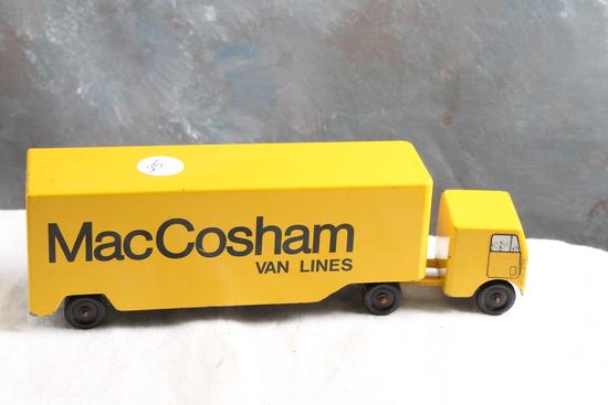 "Vintage RALSTOY Diecast MacCosham Van Lines Moving Storage Truck 8.5"" Long"