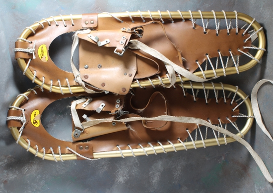 """Pair of Sherpa Aluminum Snow Shoes in Very Good Condition Measure 25"""" Long"""