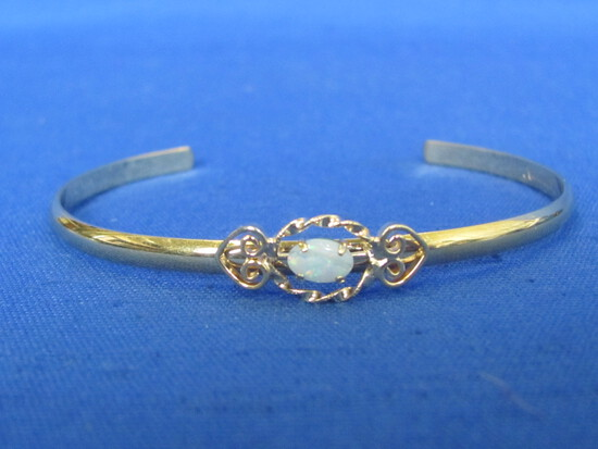 Vintage Krementz Gold Filled Bracelet with Opal – Delicate Look