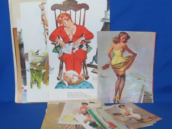 Lot of Paper: Calendar/Book Pages of Beautiful Women – Hilda, Risque & more