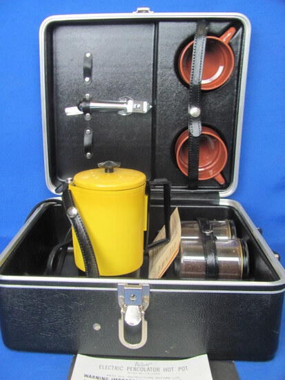 Empire Travl-Perk – Electric (Auto) in Platt Hardcase – 2 Cups & Utensils – Even Coffee