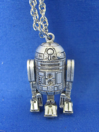 "Star Wars R2-D2 Pendant – Marked ""77  20th Century Fox""  1 1/2"" long"