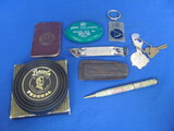 Mixed Lot of Advertising: Ford Coin Holder, Mechanical Pencil Waseca – Hone, Notebook