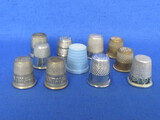 "Thimbles: Some Advertising ""The Prudential"" ""I-H Flour"" 1 made in Germany, 1 in Japan"