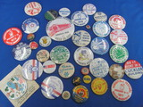 Lot of Vintage Pinbacks: Local Area Festivals – Sweet Caporal Cigarettes – 1929 Lumbermens