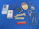 "Mixed Lot of Advertising: Button Hook ""Viall the Shoe Man, Spring Valley"" Archer Aircraft Oil Knife"