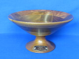 "Footed Wood Bowl w Plaque ""In Appreciation to Rhoda – Gov. and Mrs. LeVander"""