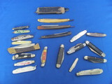Big Lot of Pocket/Folding Knives & Some Straight Razors – A few advertising