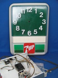"Parts for a 7-UP Wall Clock – Has the hands, motor, etc. 18 1/2"" x 14"""