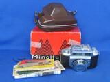 Vintage Minolta A-2 35mm Film Camera – With case, box & paperwork – 1950s