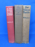 "3 Vintage Books: 1930 ""In the Onyx Lobby"", 1909 ""The Silent Battle"""