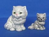 Vintage Goebel Cat Figurine made in West Germany & Unmarked Sidekick