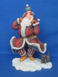 "Land & Wise Santa Claus Figurine ""Santa's Jig"" by Sherri Buck Baldwin – 1999 – 8"" tall"
