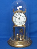 "Anniversary Clock – Not Running – Made in Germany – Pretty Face  - 13"" tall with Dome"