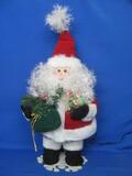"Santa Claus Figurine with Fiber Optic Lighting – 20"" tall"