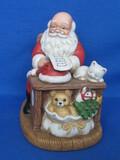 "Homco Ceramic Figurine – Santa Claus Checking his List – 6"" tall"
