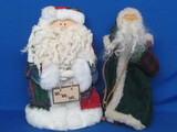 "Pair of Wood Santa Claus Figures – About 12"" tall"
