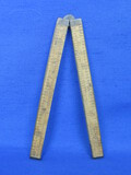 Wood & Brass Folding Ruler – No Maker's Mark that I can see