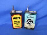 Mitee Thread Cutting Oil & Rawleigh's Idea Oil Tins