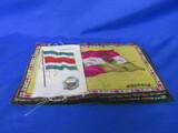 Tobacco Felt & Silk Flags – Costa Rica – Austria – Great Britian – Italy - & Siam