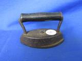 Small Sad Iron With Wood Handle