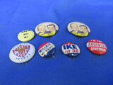 Political Pinbacks – One or Two Reproduction