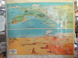 "Vintage Classroom Map w/ Geological Terms - ~50"" x 50"" - Great graphics – George F. Cram Co."