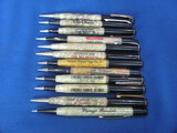 Lot of 12 Vintage Mechanical Pencils w/ Advertising – As shown